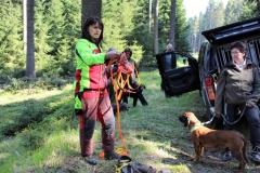 2 Schweißhundeführerin Frau Thomae